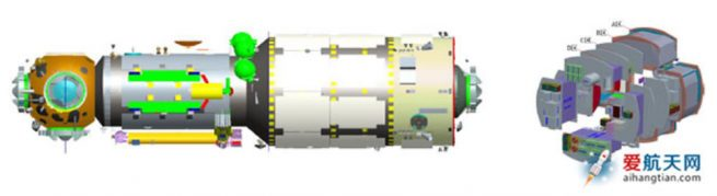 Artist's concept of the Tianhe 1 module.