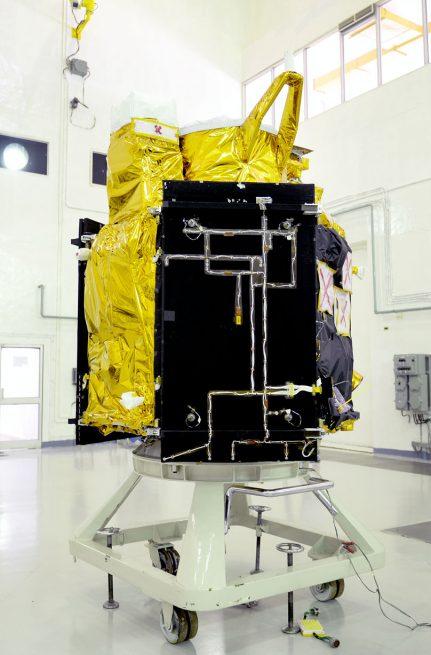 CartoSat-2C satellite in a clean room at Sriharikota.