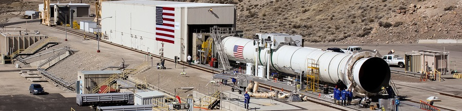 The QM-1 booster will be heated to approximately 90 degrees F. Photo Credit: Jason Rhian / SpaceFlight Insider