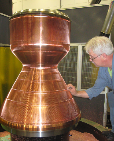 Completion of slotting of a BE-4 main combustion chamber.