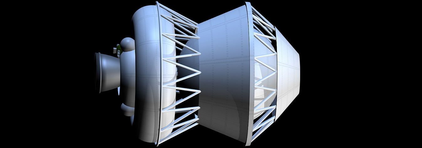 Artist's rendering of a Blok D upper stage.