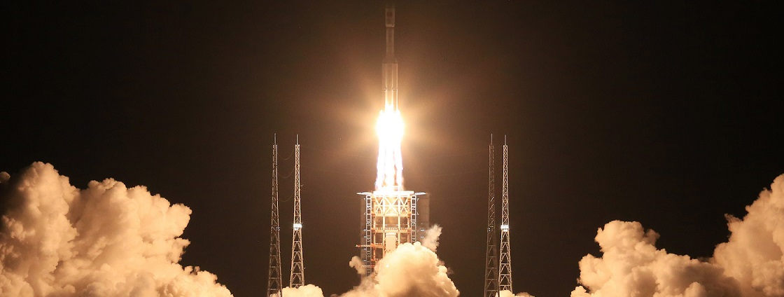 A Long March 7 rocket launches from the Wenchang Satellite Launch Center on June 25.