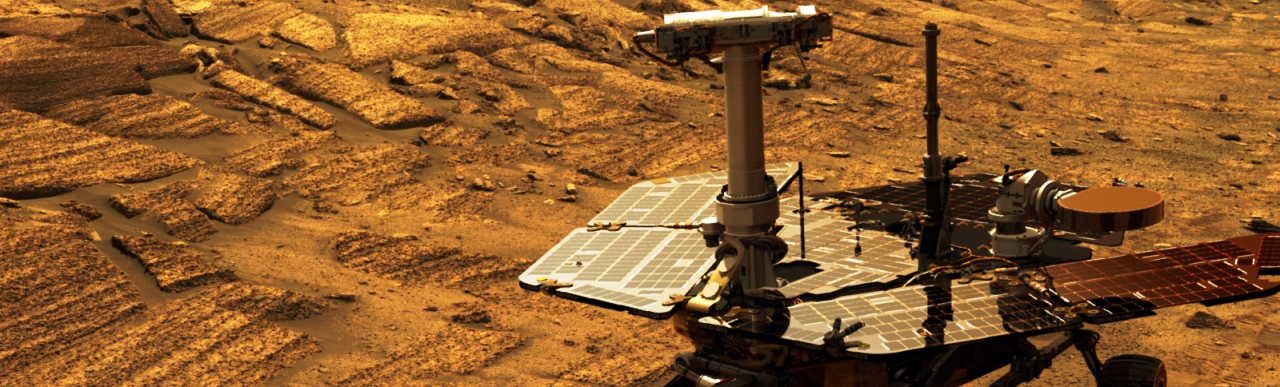 NASA's Mars Exploration Rover Opportunity on the surface of the Red Planet NASA image posted on SpaceFlight Insider