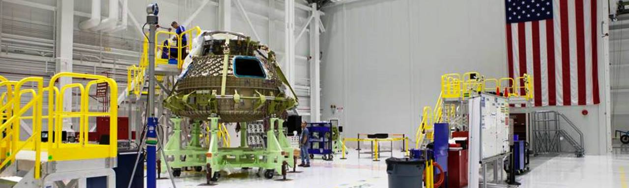 Boeing CST-100 Starliner at Kennedy Space Center C3PF NASA photo posted on SpaceFlight Insider