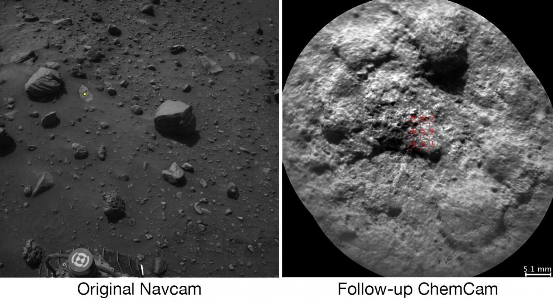 Curiosity laser targets
