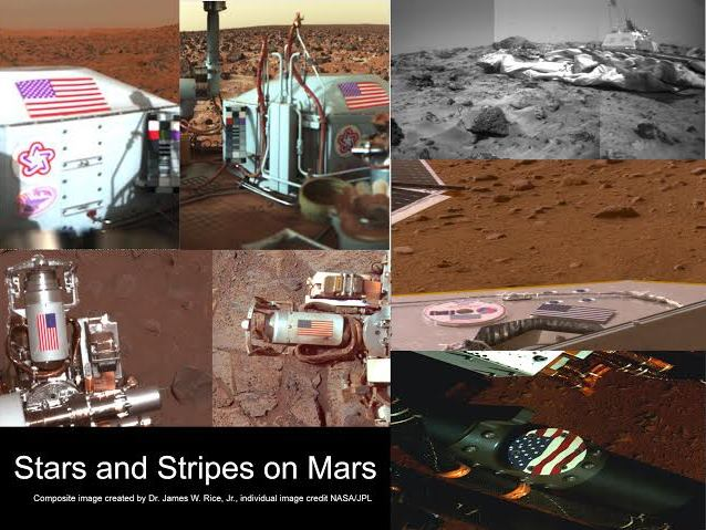 Stars and Stripes on Mars NASA JPL images posted on SpaceFlight Insider