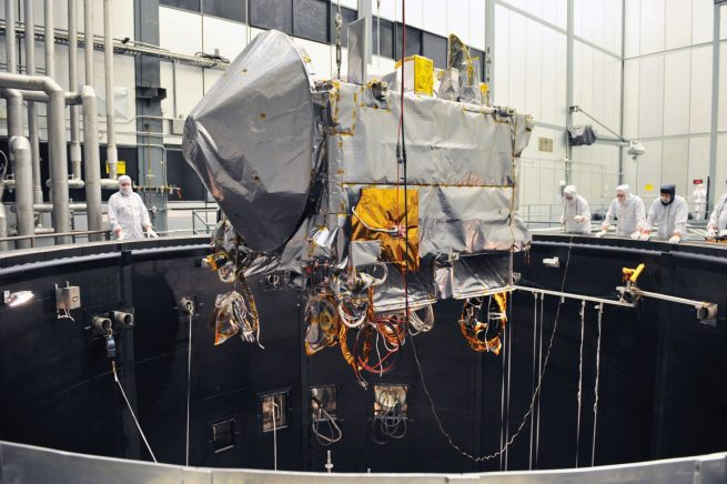 OSIRIS-REx undergoing testing Lockheed Martin photo posted on SpaceFlight Insider