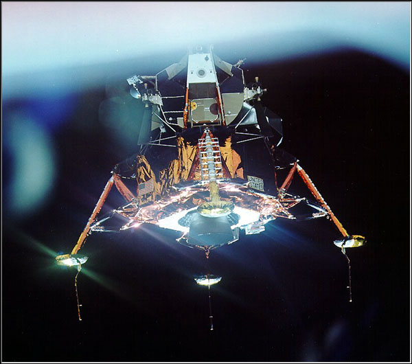 "Apollo 11: ""The Eagle has wings."" Photo Credit: NASA"