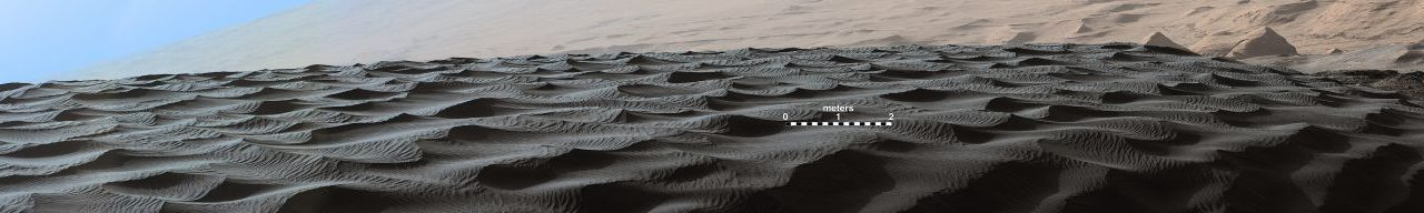 Two sizes of ripples are evident in this Dec. 13, 2015, view of a top of a Martian sand dune, from NASA's Curiosity Mars rover. Sand dunes and the smaller type of ripples also exist on Earth. mage Credit: NASA/JPL-Caltech/MSSS