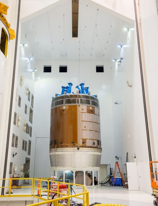 Engineers at NASA's Glenn Research Center have been putting a test article of the Orion service module through a number of tests over the last few months. Photo Credit: NASA