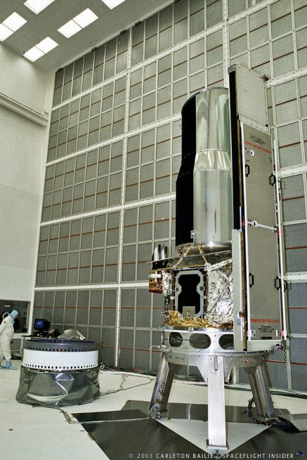 NASA Spitzer Space Telescope in Clean Room photo credit Carleton Bailie SpaceFlight Insider