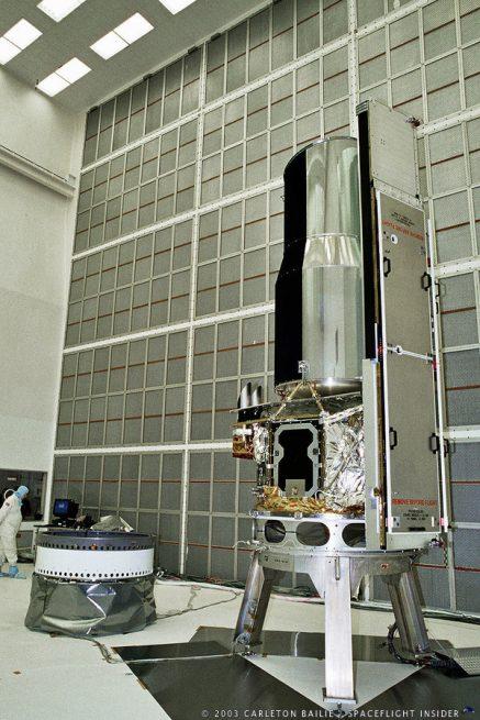 NASA Spitzer Space Telescope in Clean Room photo credit Carleton Bailie SpaceFlight Insider