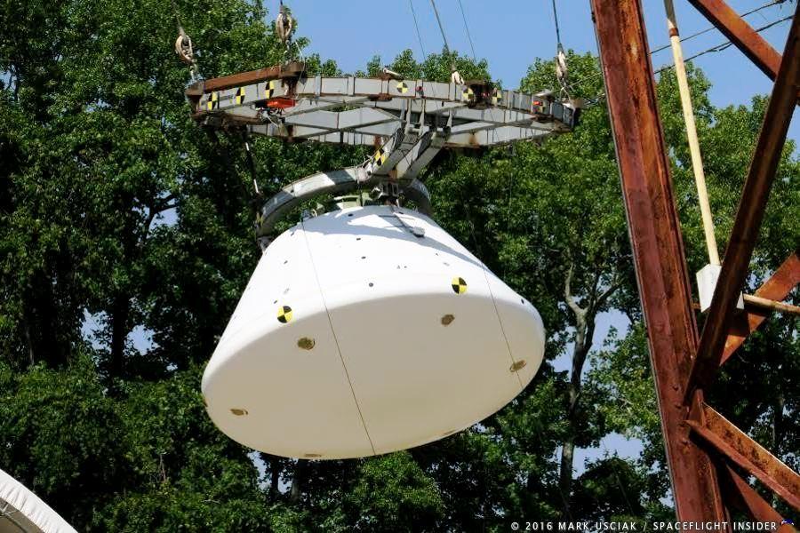 NASA conducts ninth Orion drop test at Langley ...