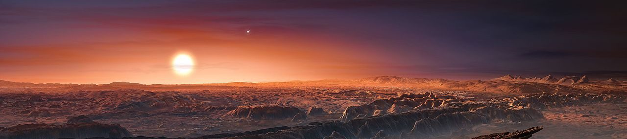 Artist's impression of Proxima b orbiting Proxima Centauri