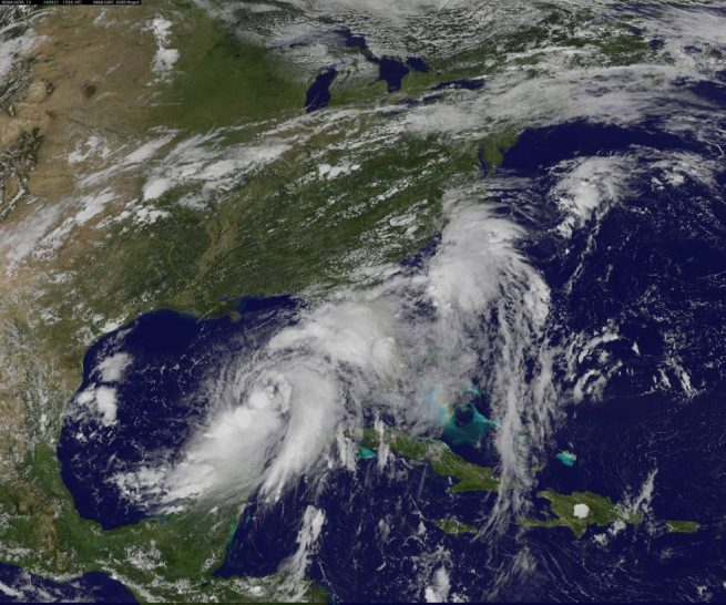 Tropical Storm Hermine NASA image posted on SpaceFlight Insider