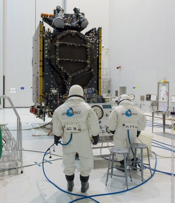 "Intelsat 36 is ""topped off"" with its onboard propellant."