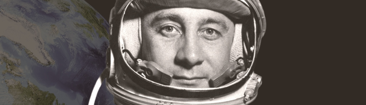 Gus Grissom in Mercury flight suit. NASA / George Leopold image posted on SpaceFlight Insider