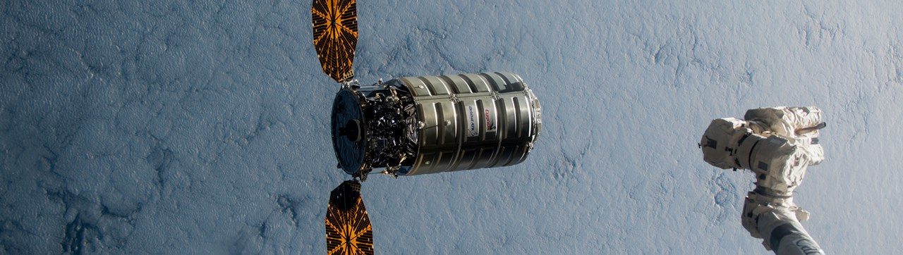 Orbital ATK OA 6 Cygnus spacecraft approaches the International Space Station. NASA photo posted on SpaceFlight Insider