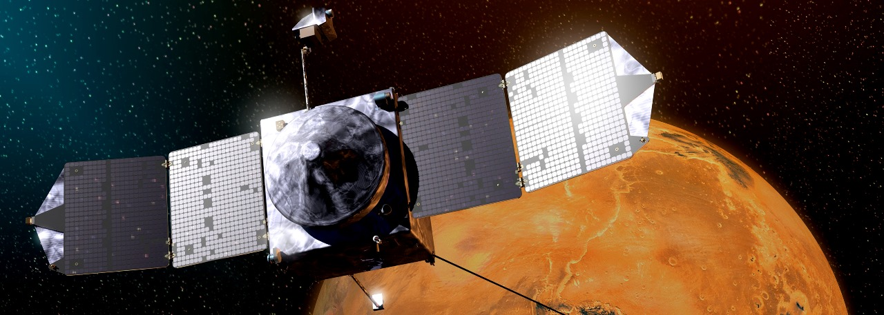 NASA's MAVEN spacecraft in orbit above the Red Planet. Image Credit NASA posted on SpaceFlight Insider