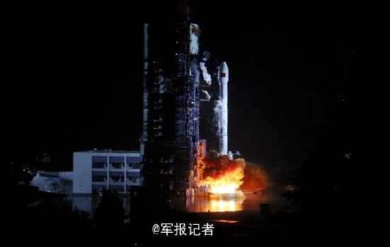 Long March 3B rocket lifts off with the Tiantong-1 No.1 satellite from the Xichang Satellite Launch Center on Aug. 5, 2016.
