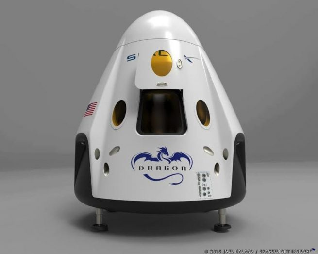 SpaceX Crew Dragon spacecraft image credit Joel Haland / SpaceFlight Insider