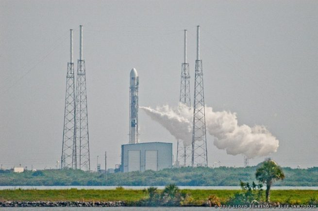 SpaceX Falcon 9 rocket at Cape Canaveral Air Force Station Space Launch Complex 40 Lloyd Behrendt Blue Sawtooth Studio photo posted on SpaceFlight Insider