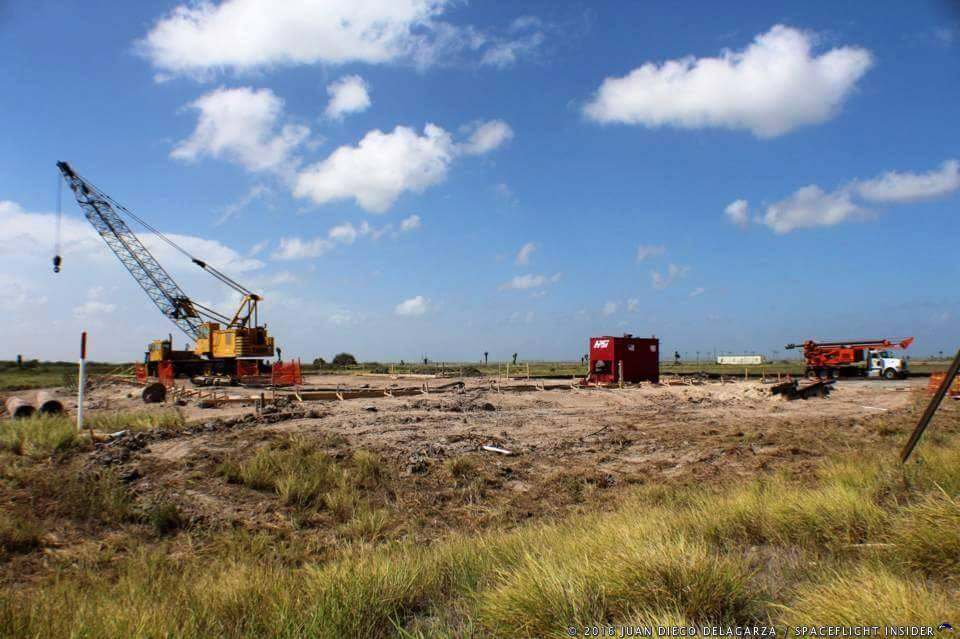 Work on SpaceX's Boca Chica launch site continues ...