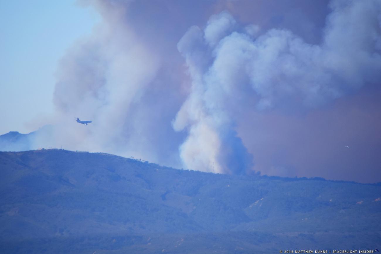 Wildfire in Vandenberg
