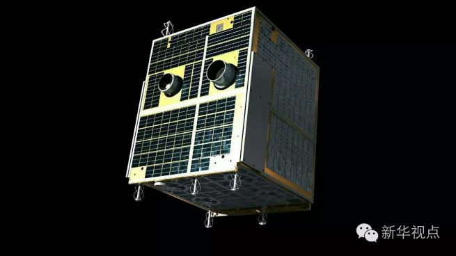 Artist's rendering of the Banxing-2 satellite that will piggyback on Tiangong-2 mission.