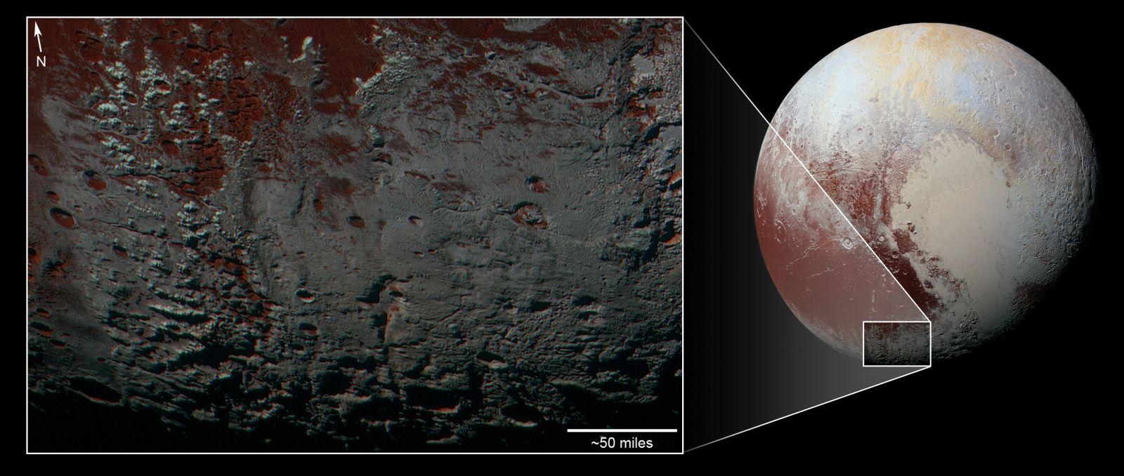 Pluto snowcaps New Horizons