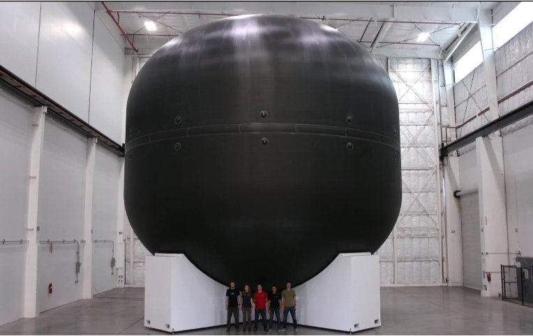 SpaceX's ITS spaceship development tank