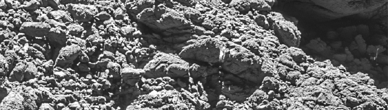 Philae in 'dark crack'