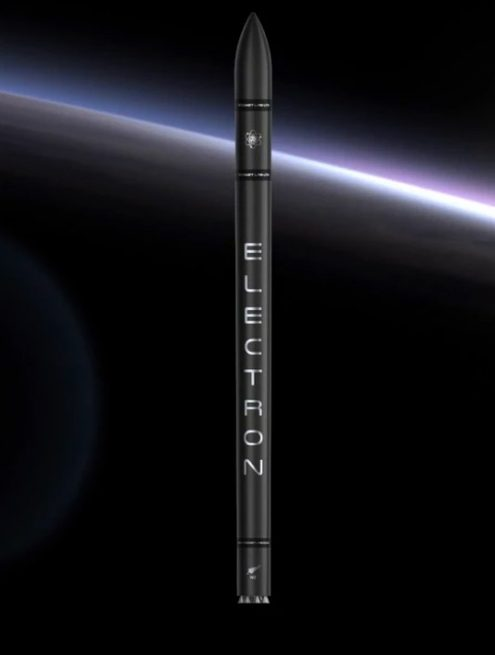 Artist's rendering of the Electron rocket.