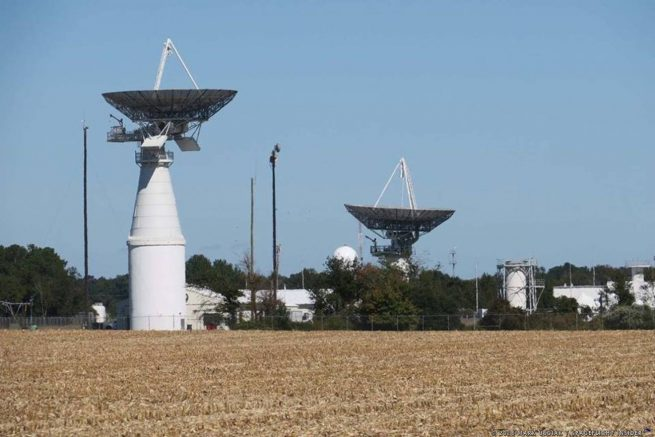 One of the key landmarks that let you know you are near Wallops Flight Facility - are the radar dishes that dot the Virginia countryside in the region. Photo Credit: Mark Usciak / SpaceFlight Insider
