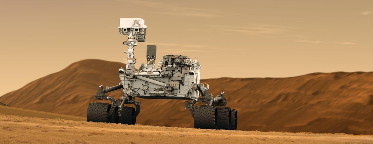 Artist's concept of NASA's Curiosity Mars rover. Image Credit: NASA/JPL-Caltech.