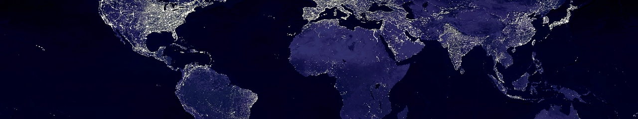 The lights of Earth as captured by DMSP spacecraft between 1994 and 1995. Image Credit: GSFC / NASA