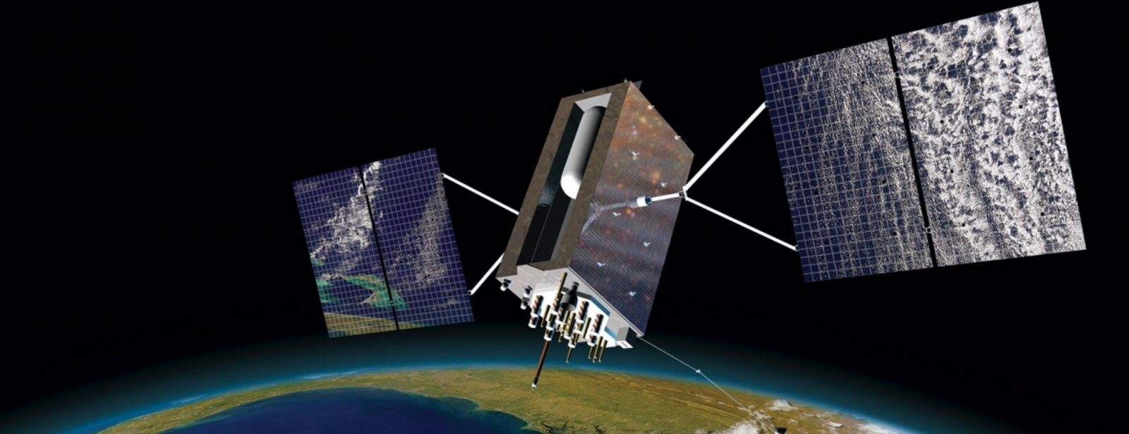 Artist's depiction of a GPS III satellite in orbit. Image credit: Lockheed Martin