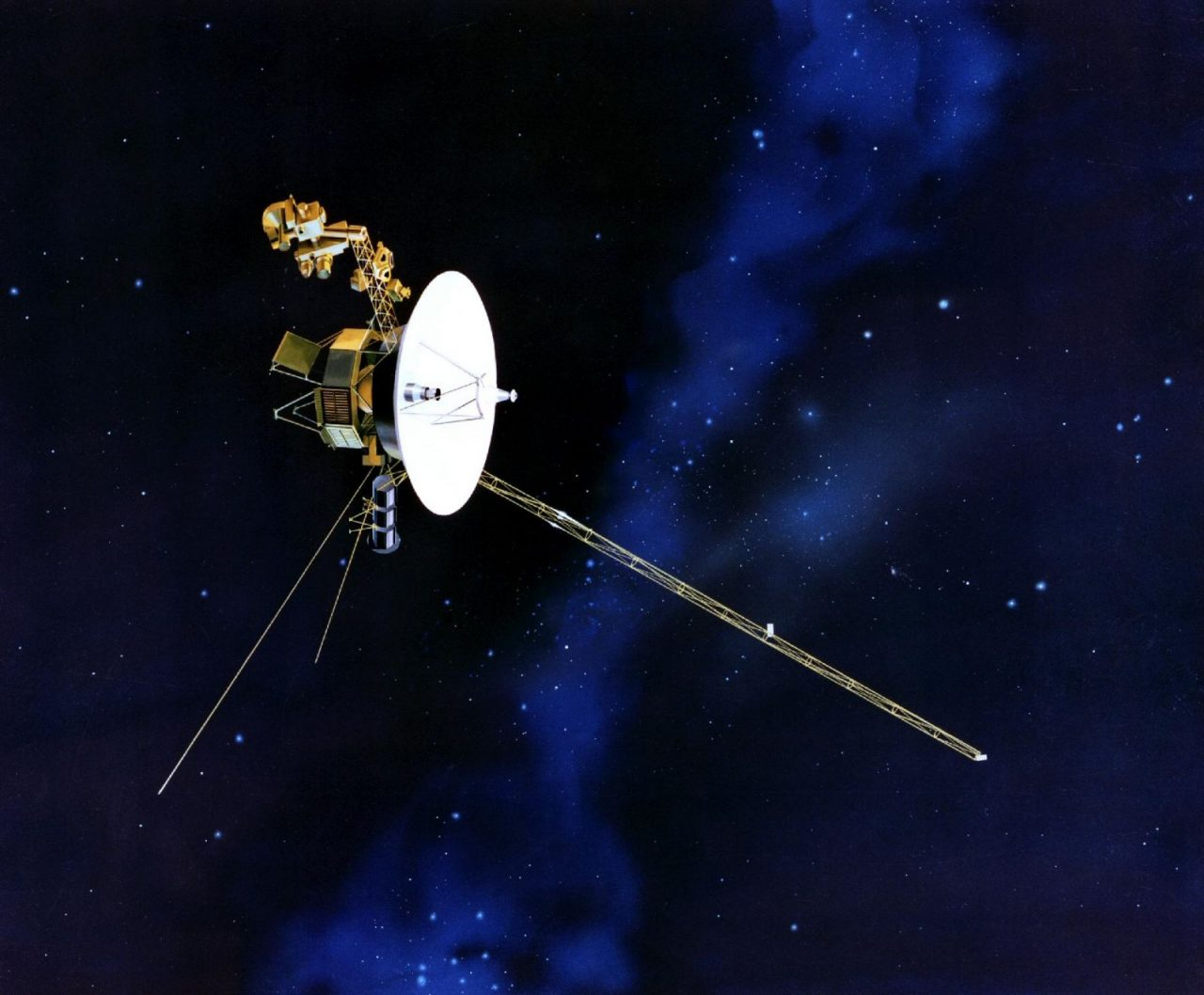 Uranus flyby: Artist's concept of the Voyager spacecraft. Image Credit: NASA