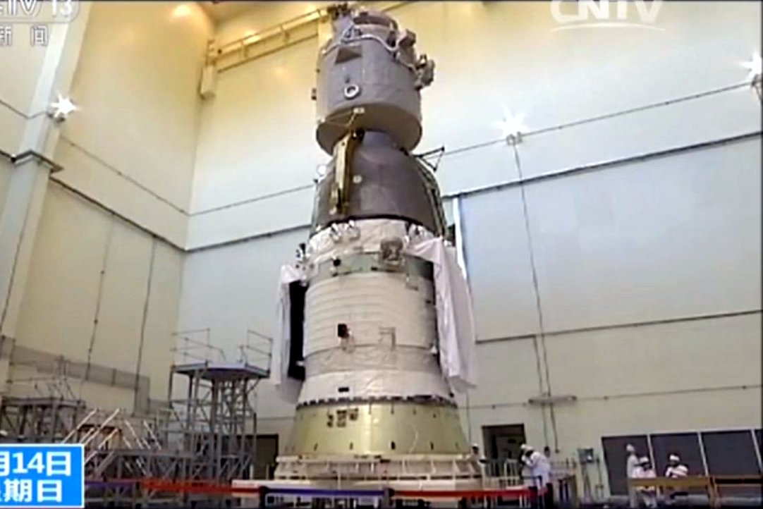 Shenzhou 11 spacecraft undergoing tests in February 2016.