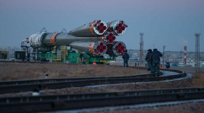 Soyuz FG Rollout