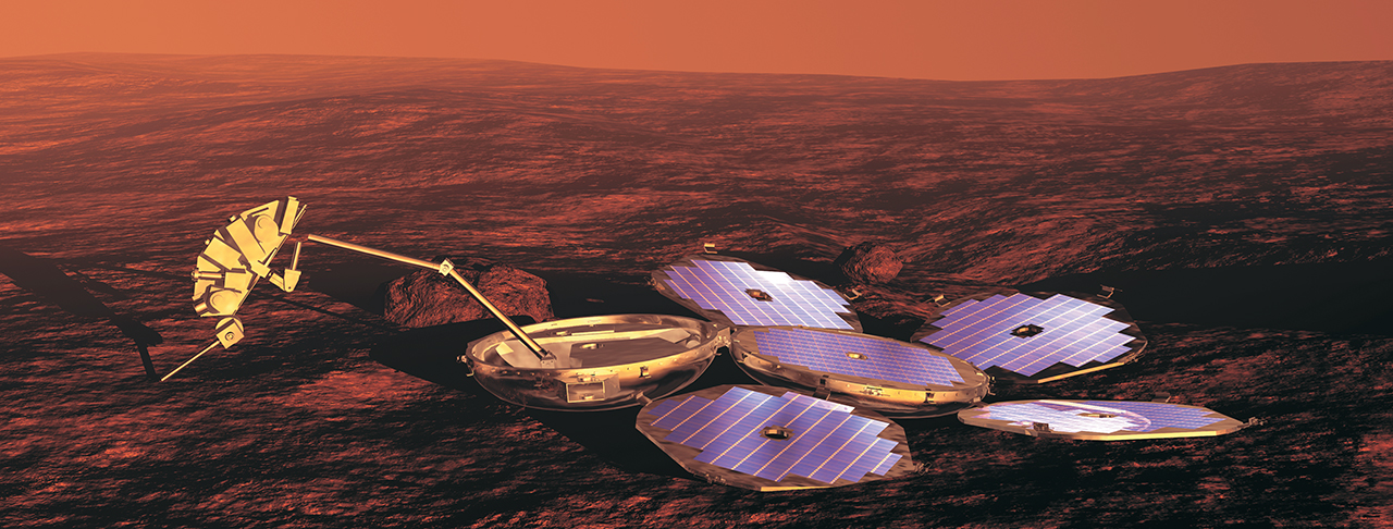 Artist's concept of Beagle 2 lander on Mars. Image credit: ESA