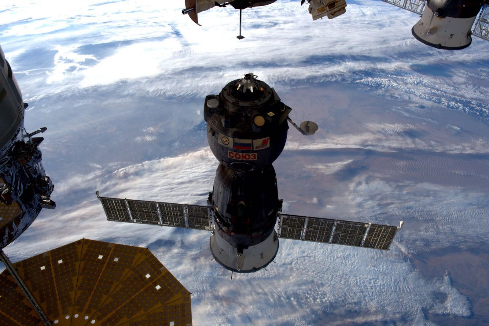 Soyuz MS-02 undocking from ISS. Photo Credit: NASA