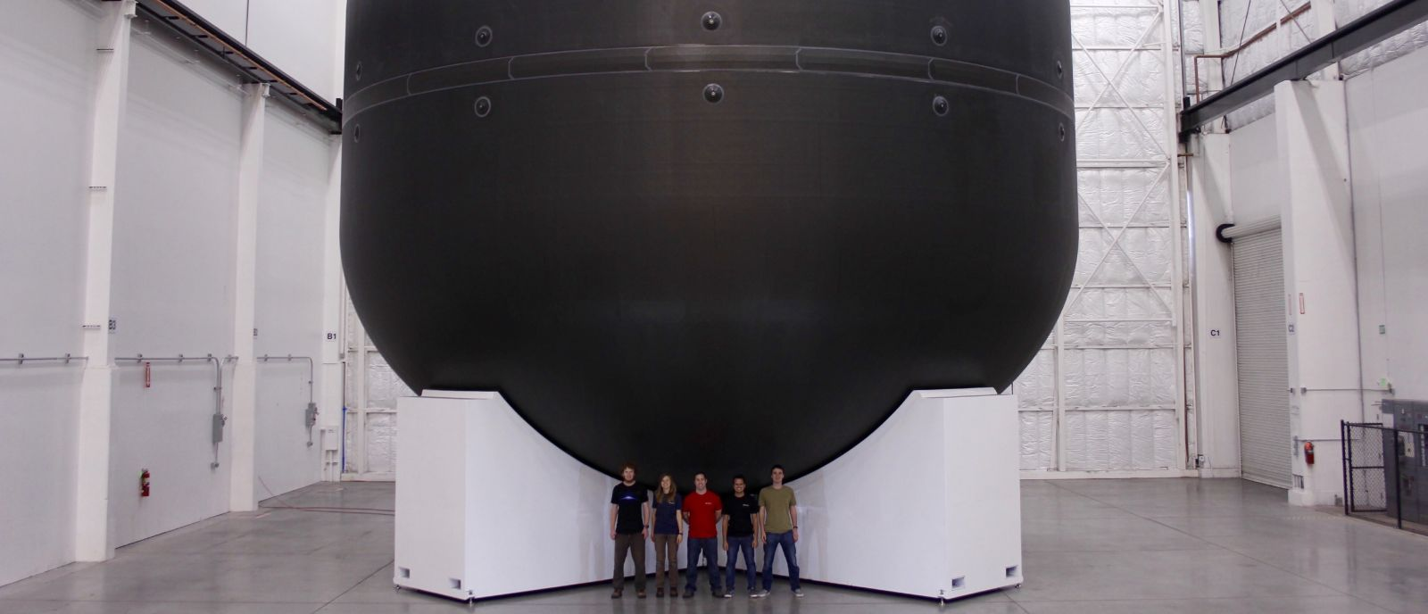 Developmental SpaceX ITS LOX tank. Photo Credit: SpaceX
