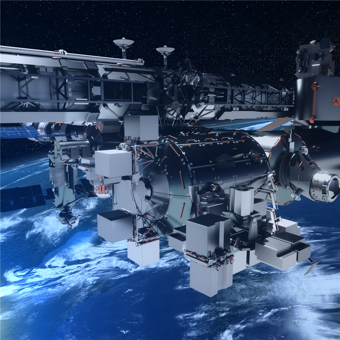Artists Rendering Of The Bartolomeo Platform Attached To The Iss Columbus Module