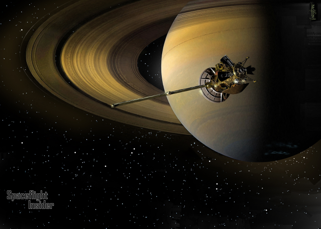 The Cassini spacecraft has been in orbit since 2004. Since that time, it has revolutionized our understanding of the ringed planet. Image Credit: James Vaughan / SpaceFlight Insider