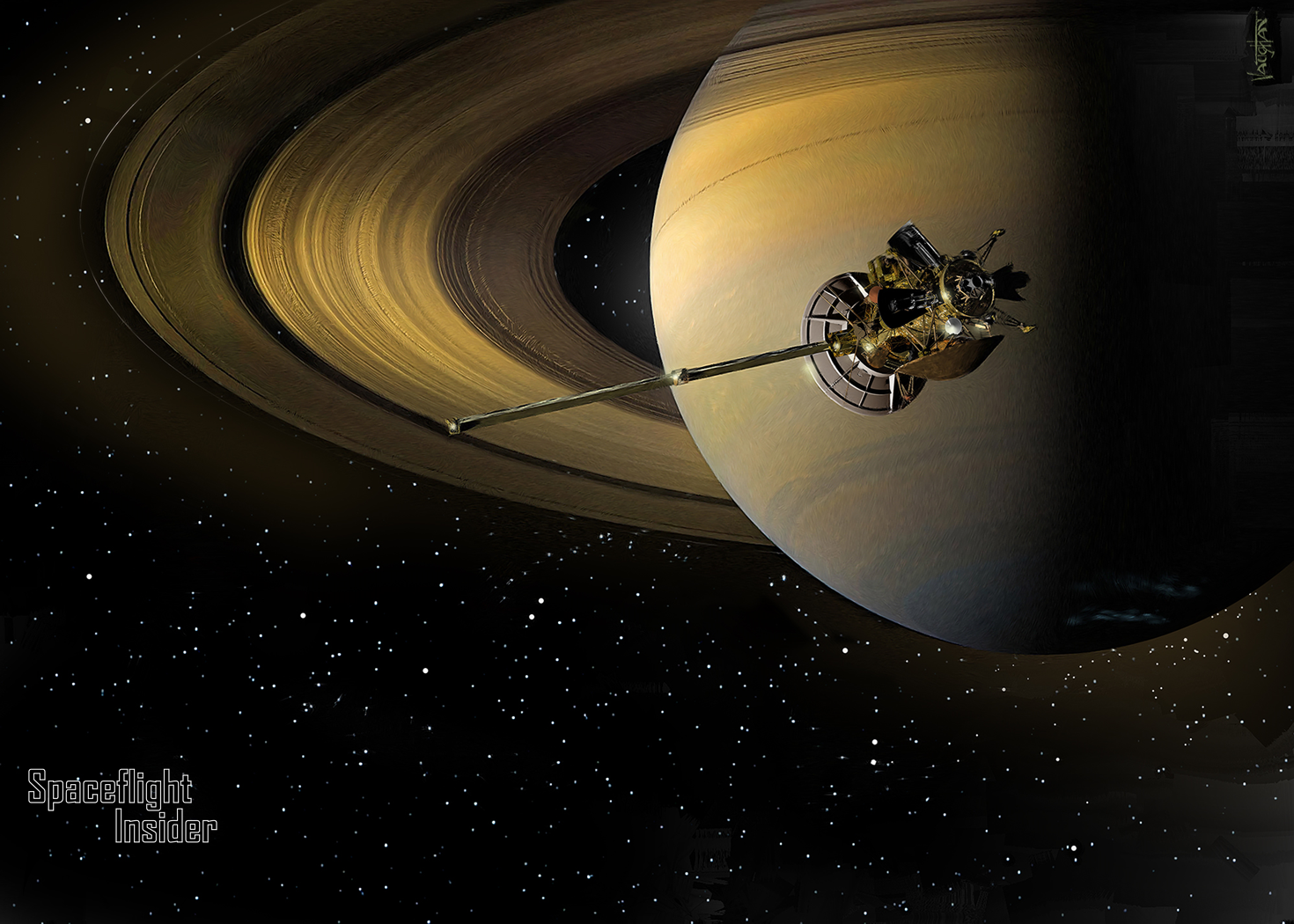 Cassini prepares to graze Saturn's rings - SpaceFlight Insider