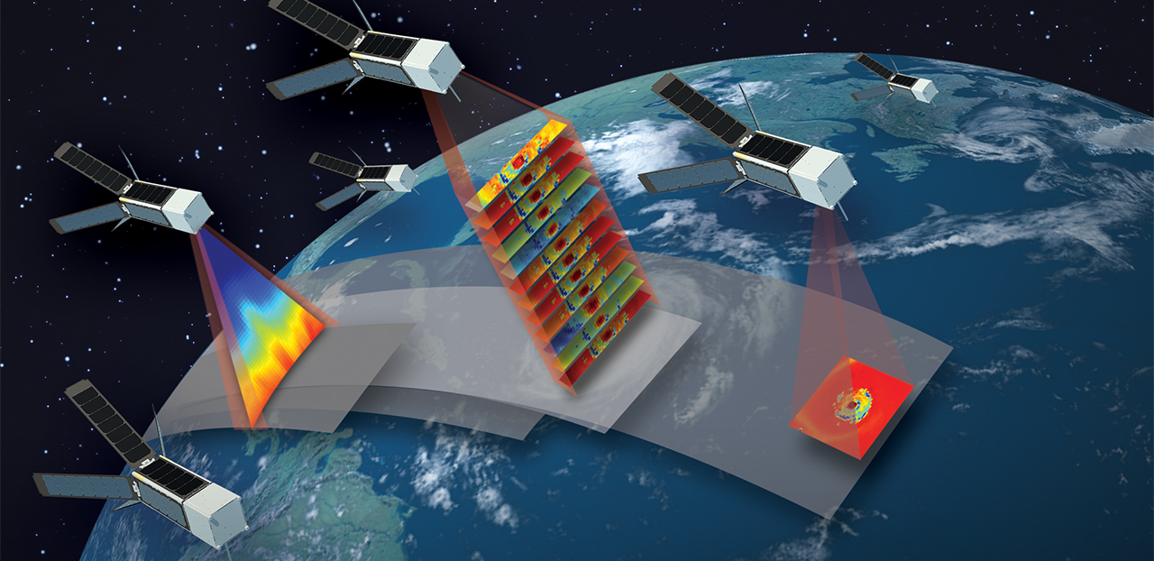 Small satellites: TROPICS, a new NASA Earth-observing mission announced this year, will study the insides of hurricanes with a constellation of 12 CubeSats. Image Credit: MIT Lincoln Laboratory