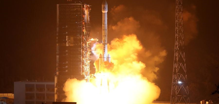 Long March 3B booster launches from the Xichang Satellite Launch Center carrying the Fengyun-4A weather satellite.