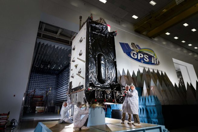GPS III navigation satellite being prepared for its mission. Photo Credit: Lockheed Martin posted on SpaceFlight Insider