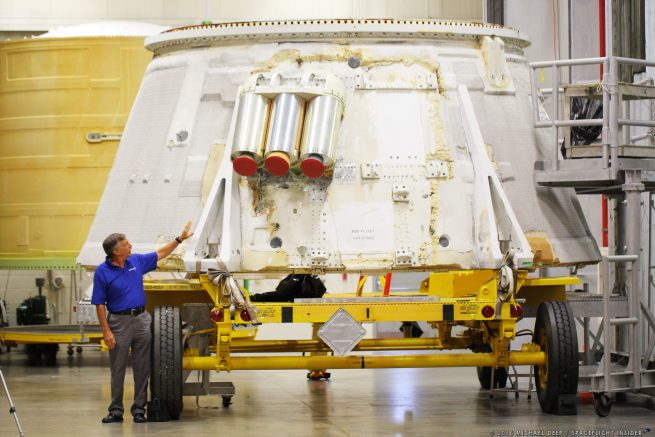 Orbital ATK's Larry Clark told SpaceFlight Insider how both the BFF as well as already-flown flight hardware such as this skirt from 2009's Ares I-X mission are being used to prepare NASA for upcoming missions. Photo Credit: Mike Deep / SpaceFlight Insider